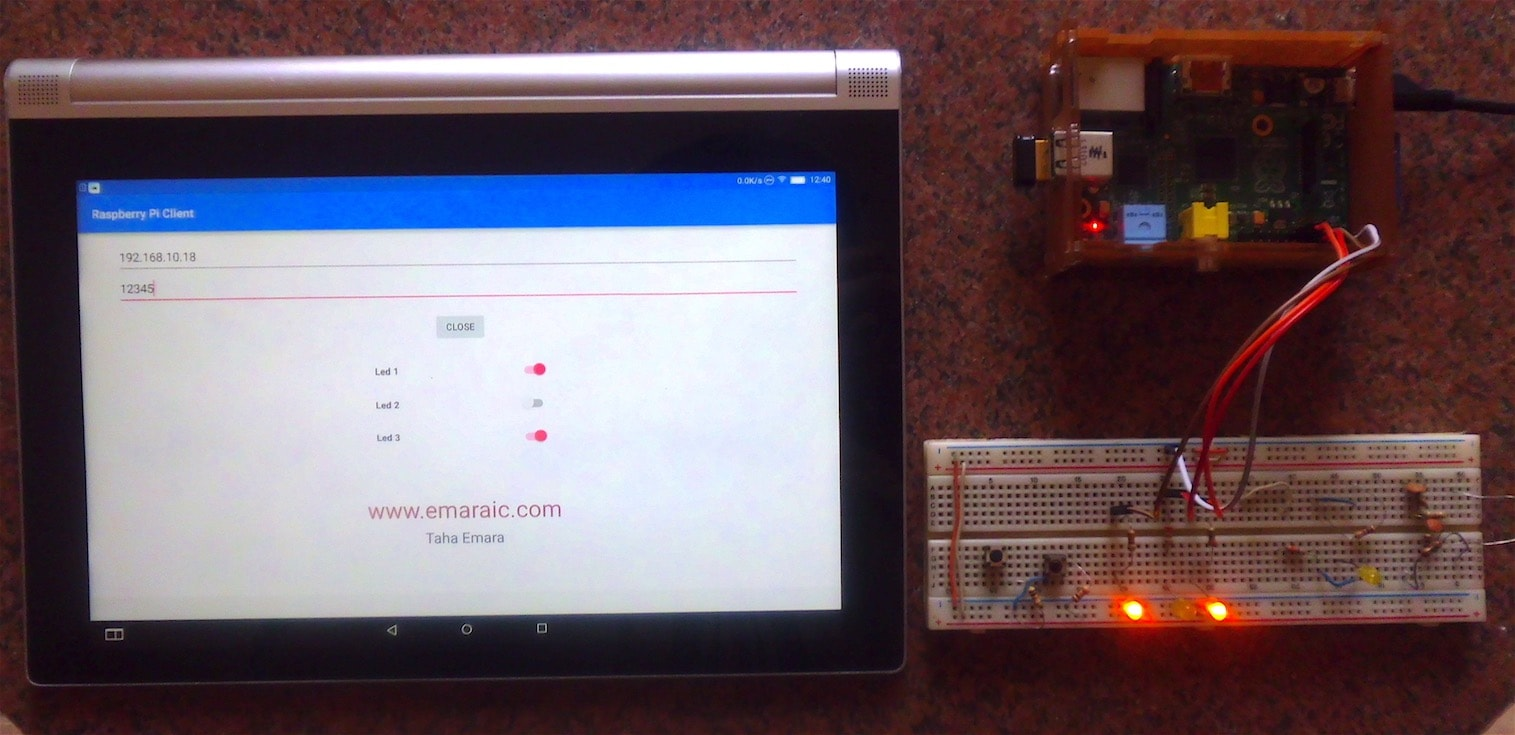 Emaraic Iot With Raspberry Pi And Android Control Leds Remotely Install Wiringpi On