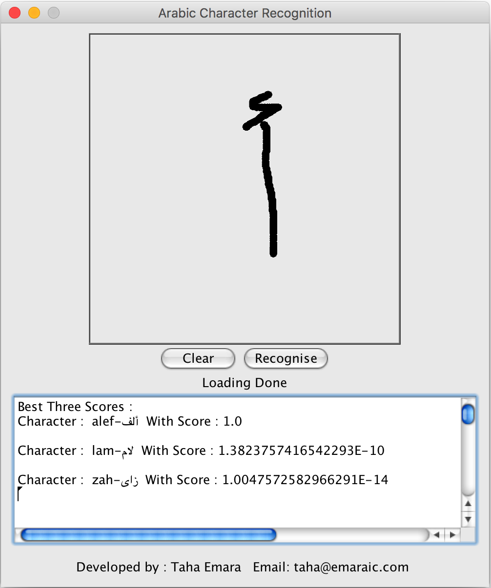 Emaraic - Arabic Handwritten Characters Recognition using