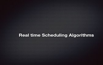 Emaraic - Real Time Scheduling Algorithms